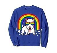 Bull Terrier Dog Gay Pride Rainbow Q Cute Gift Shirts Sweatshirt Royal Blue