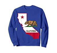 California Bear And Map Cool Gift Shirts Sweatshirt Royal Blue