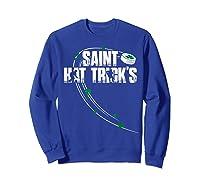 St Patricks Day Hockey T Shirt Saint Hat Trick S Day Funny Sweatshirt Royal Blue