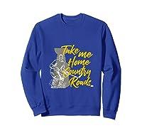 Roads To Hockey Country Fan Take Me Home Top Gift Tank Top Shirts Sweatshirt Royal Blue