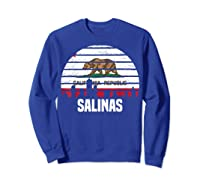 Salinas California T Shirt Ca Group City Silhouette Flag Tee Sweatshirt Royal Blue