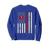 Ff Emtp Firefighter Paramedic Usa Flag Shirts Sweatshirt Royal Blue