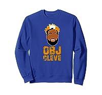 Football Obj Cleveland Shirts Sweatshirt Royal Blue