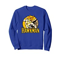 Justice League Hawkman Circle T Shirt Sweatshirt Royal Blue
