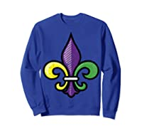 Fleur De Lis Mardi Gras Cute Fat Tuesday Funny Gift Shirts Sweatshirt Royal Blue