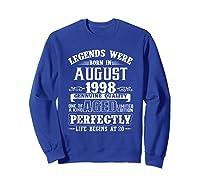 August 1998 20th Birthday Gift Shirt 20 Years Old  Sweatshirt Royal Blue