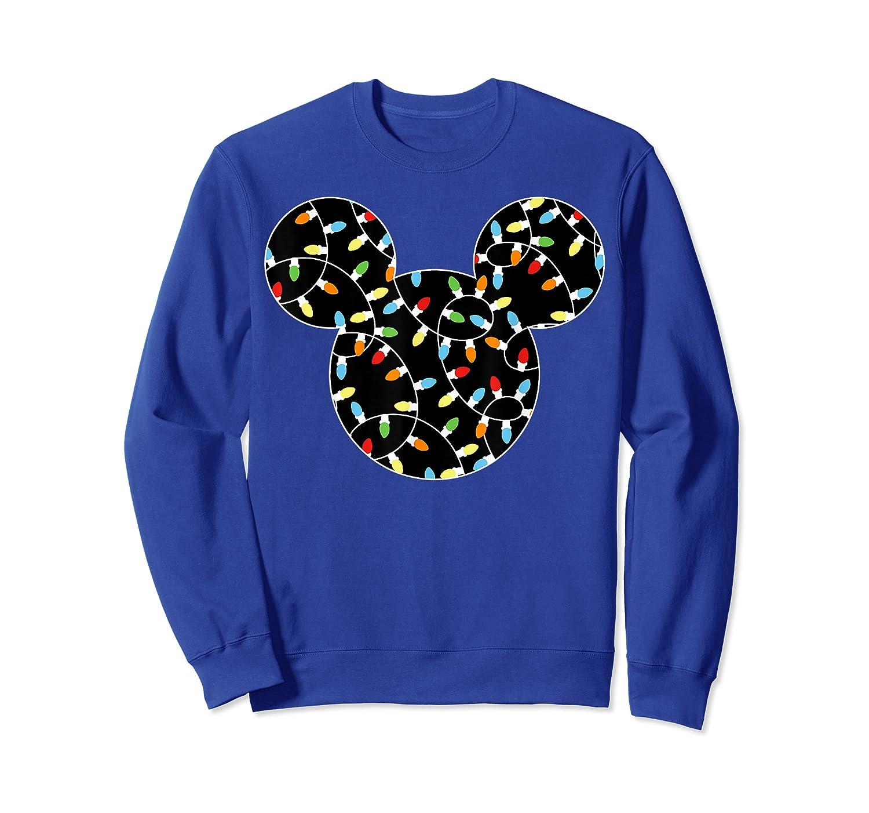 Disney Mickey Christmas Lights T Shirt Crewneck Sweater