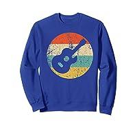 Guitaris Retro Acoustic Guitar Shirts Sweatshirt Royal Blue