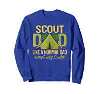 Scout Dad Cub Leader Boy Camping Scouting Gift Shirts Sweatshirt Royal Blue
