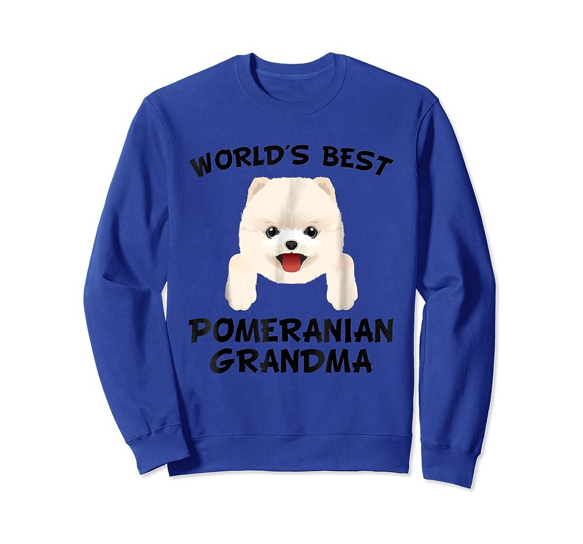 World's Best Pomeranian Grandma Dog Granddog T-Shirt-Sweatshirt-Royal