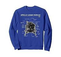 Lunar Module First Moon Landing 1969 T Shirt Sweatshirt Royal Blue
