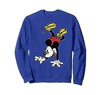 Disney Mickey Mouse Handstand T Shirt Sweatshirt Royal Blue
