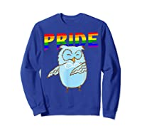 Flossing Owl Lesbian Bisexual Gay Lgbt Pride Gifts Shirts Sweatshirt Royal Blue