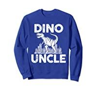 Dino-uncle Dinosaur Family Matching T-shirts Sweatshirt Royal Blue