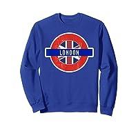London Uk T Shirt Fun English British City Travel Gift Sweatshirt Royal Blue
