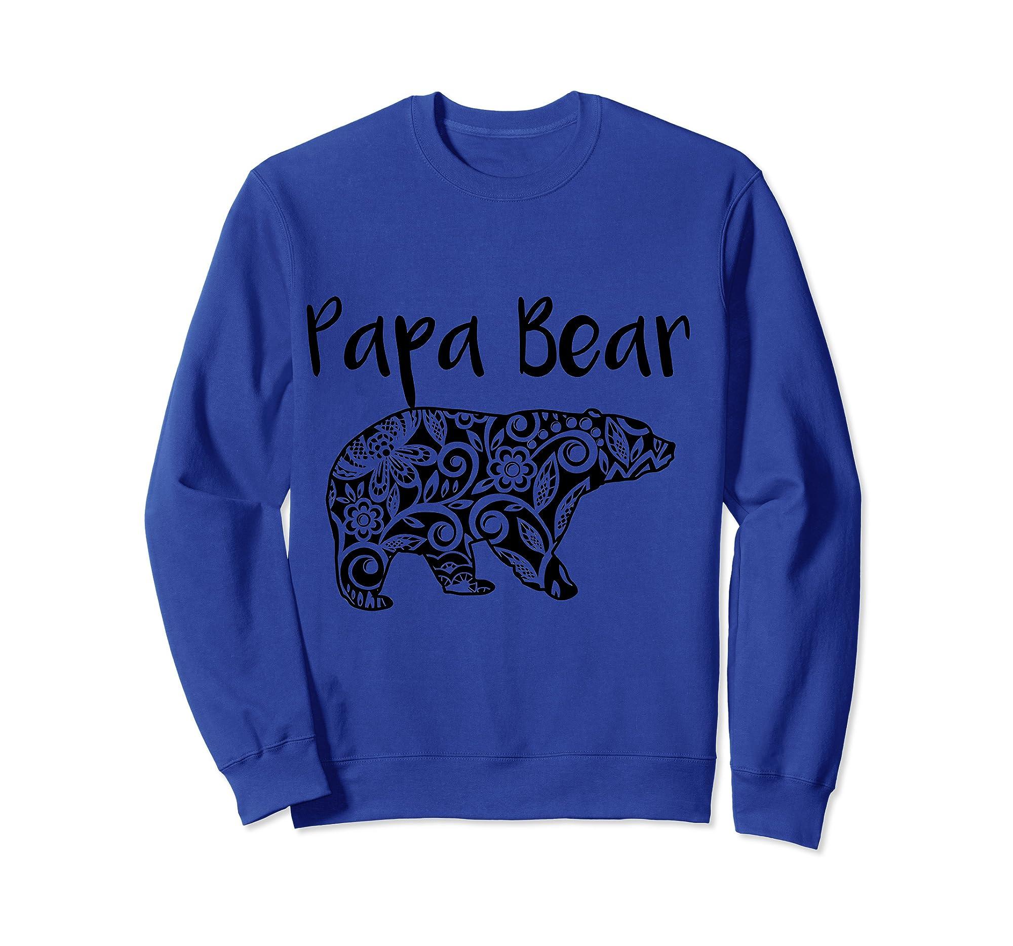 Fortuitous Dta Dta S Mama Papa Baby Bear Funny Family Matching Mother Day Ts Shirts Sweatshirt Royal Blue