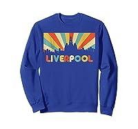 Liverpool T Shirt England Vintage Skyline Souvenirs Shirt Sweatshirt Royal Blue
