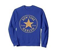 New York City Harlem Nyc Usa United States T Shirt Sweatshirt Royal Blue