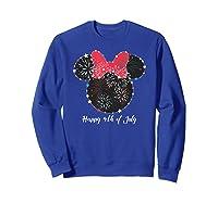 Disney Minnie Fire Works T Shirt Sweatshirt Royal Blue