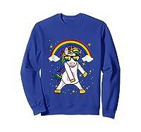 Lgbt Pride Month Unicorn Funny Rainbow Gay & Lesbian Gift Tank Top Shirts Sweatshirt Royal Blue