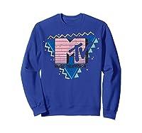 Pink Stripes Logo 90's Retro Design Graphic Shirts Sweatshirt Royal Blue