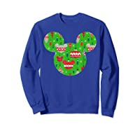 Disney Mickey Christmas Ornats T Shirt Sweatshirt Royal Blue