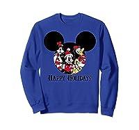 Disney Happy Holidays Group T Shirt Sweatshirt Royal Blue