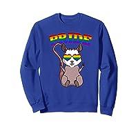 Lgbt Possum Gay Pride Rainbow Lgbtq Cute Gift Opossum Premium T-shirt Sweatshirt Royal Blue