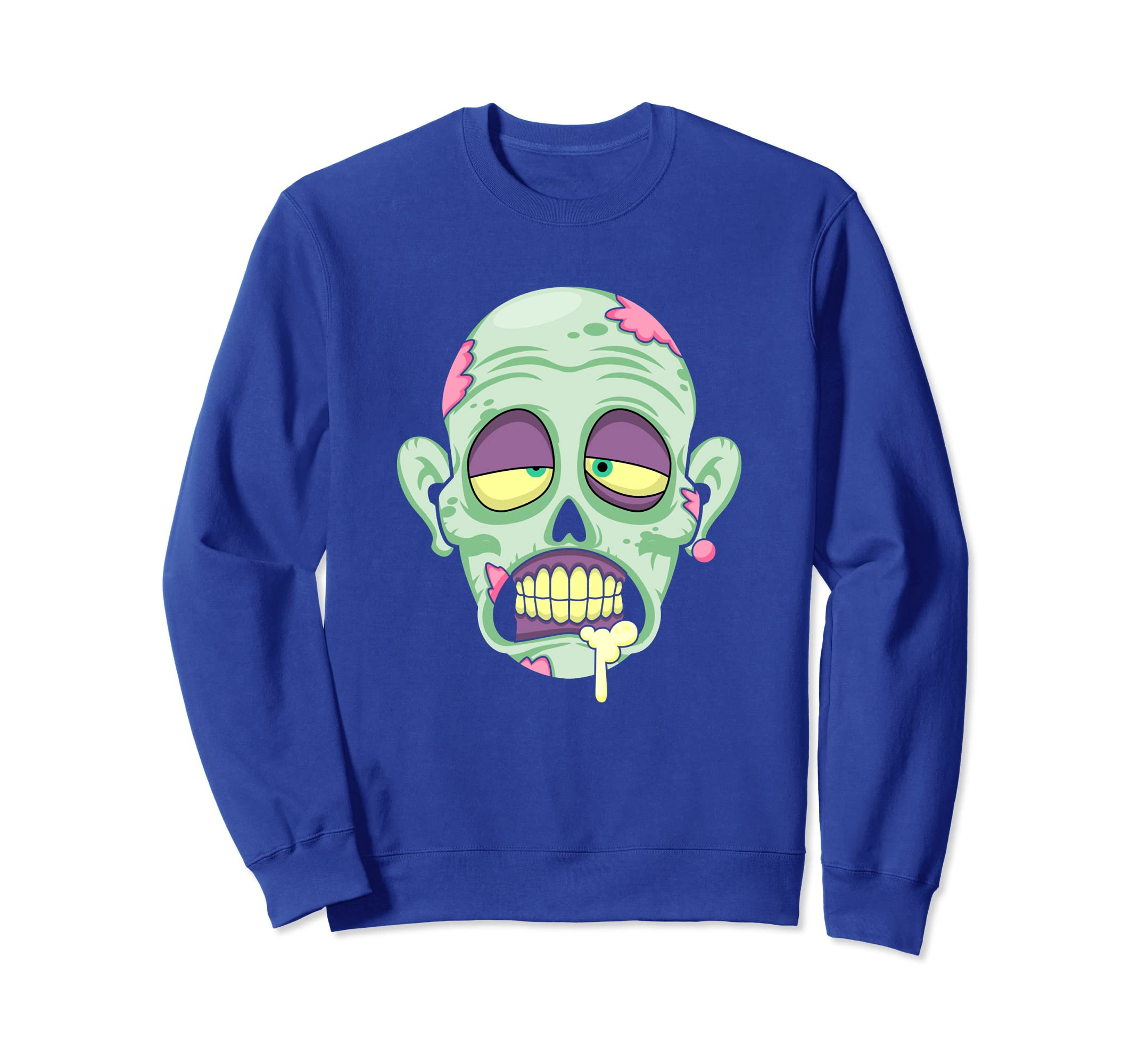 Zombie Face Funny Halloween Scary Costume Sweatshirt-ANZ