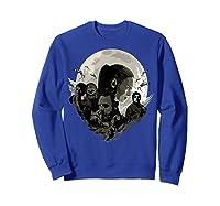 Star Wars Last Jedi Rebels Moon Silhouette Graphic T-shirt Sweatshirt Royal Blue