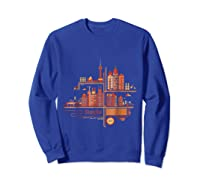 Shanghai Building S T Shirt Design Sweatshirt Royal Blue