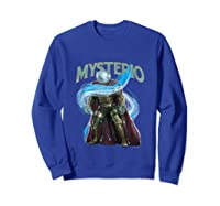 Spider Man Far From Home Mysterio Stance Shirts Sweatshirt Royal Blue