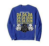 S Darth Vader Imperial March Graphic Shirts Sweatshirt Royal Blue