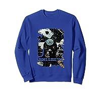 Marvel Bullseye Paint Splatter Collage Portrait Tank Top Shirts Sweatshirt Royal Blue