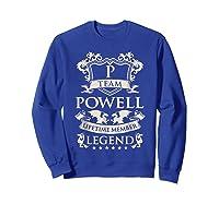 Team Powell Last Name Gifts Vintage Legend Family Tshirt Sweatshirt Royal Blue