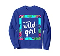 Funny Free Woman T Shirt Frame Of Flora And Fauna Sweatshirt Royal Blue