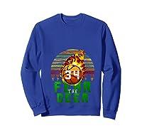 R The Deer Gift For Milwaukee Basketball Bucks Fans Fire Shirts Sweatshirt Royal Blue