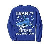 Grampy Shark Shirt Fathers Day Gift T-shirt Sweatshirt Royal Blue