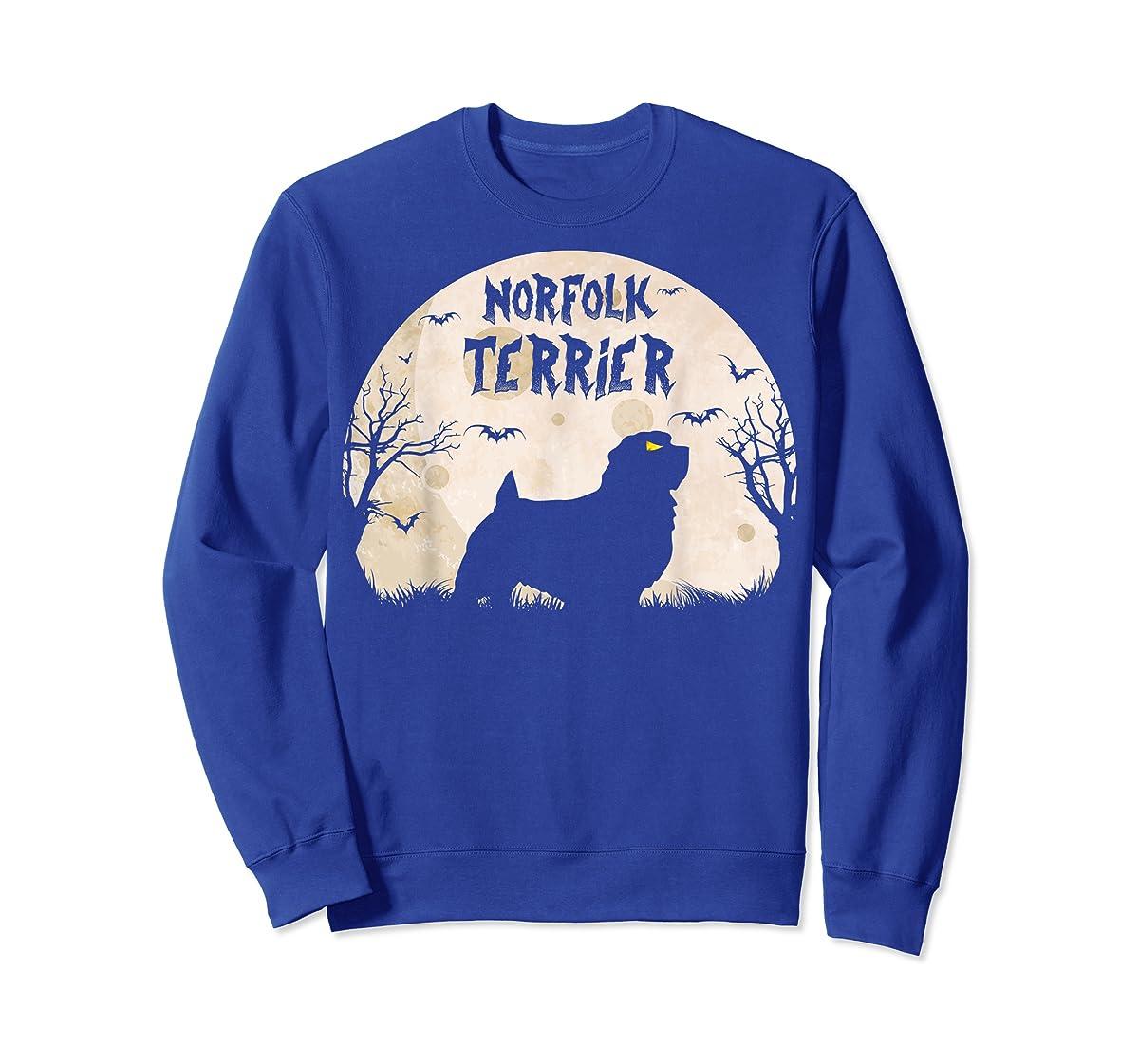 Halloween Horror Norfolk Terrier T-Shirt-Sweatshirt-Royal