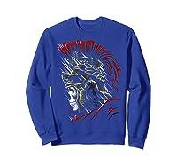Roman Skull Praetorian Warrior Shirts Sweatshirt Royal Blue