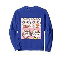 Super Cute Silly Rabbit Love Story Unisex Humor T Shirt Sweatshirt Royal Blue