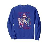Wonder Woman Paper Doll T Shirt Sweatshirt Royal Blue