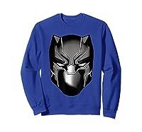 Black Panther Mask Shirts Sweatshirt Royal Blue
