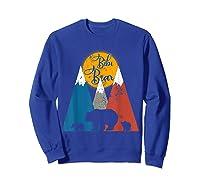 Cute Twin Bibi Bear Two Cubs Little Bears Shirts Sweatshirt Royal Blue
