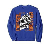 Diesel Power Truck Turbo Brothers Mechanic Shirts Sweatshirt Royal Blue