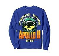 Apollo 11 50th Anniversary Shirts Sweatshirt Royal Blue
