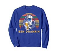 Ben Drankin 4th July Independence Day Party Shirts Sweatshirt Royal Blue