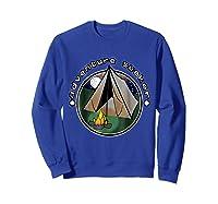 Adventure Seeker T Shirt Camping Outdoor Travel Sweatshirt Royal Blue