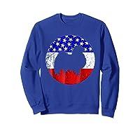 American Flag Japanese Chin Japanese Chin Dog Shirts Sweatshirt Royal Blue