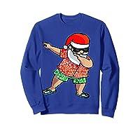 Dabbing Santa Christmas In July Hawaiian Shirt Gift Sweatshirt Royal Blue